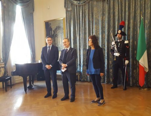 CCIB invited to the ceremony of conferring the Grand Official honor of the Order Stella d'Italia to the Hon. Kristan Vigenin at the Residence of the Italian Ambassador in Sofia S.E. Stefano Baldi