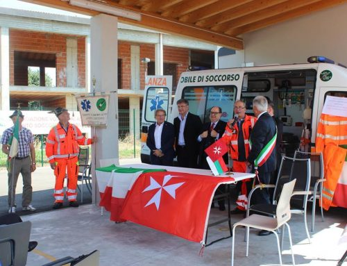 The Embassy of the Order of Malta in Bulgaria:  the Bornato's Alpine Volunteers Association has donated an ambulance  for a Bulgarian hospital.