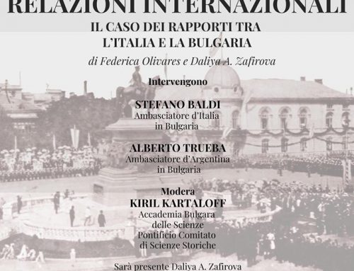 "Presentation of the volume ""Cultural Diplomacy and International Relations. The case of relations between Italy and Bulgaria""on November 11th at the Military Club of Sofia"